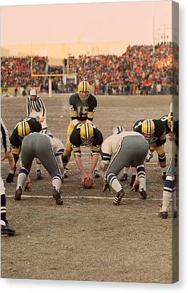 National League Canvas Print - Bart Starr Goal Line by Retro Images Archive