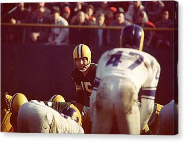 Bart Starr Calls Play Canvas Print