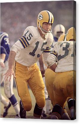 Bart Starr Hands Off Canvas Print