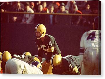 Bart Starr Looks Ahead Canvas Print