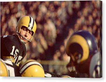 Bart Starr Looks  Canvas Print by Retro Images Archive