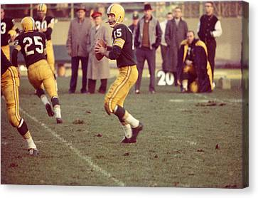 Bart Starr Ready To Throw Canvas Print