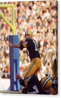 Bart Starr Throwing Canvas Print