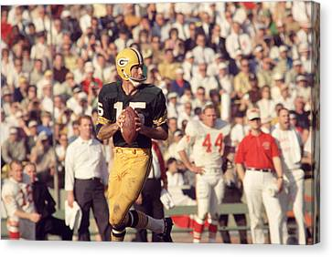 Bart Starr Vs. Chiefs Canvas Print