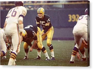 Bart Starr Vs. Vikings Canvas Print