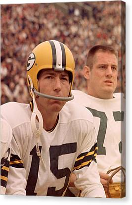 Bart Starr Watches From The Sideline Canvas Print