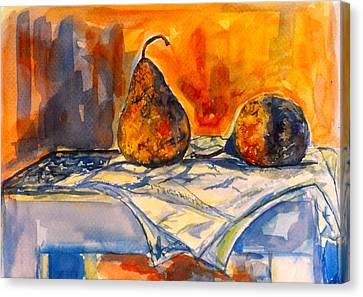 Bartlett Pears Canvas Print by Kendall Kessler