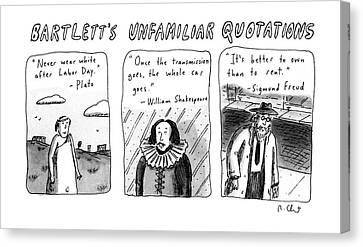 Bartlett's Unfamiliar Quotations Canvas Print by Roz Chast