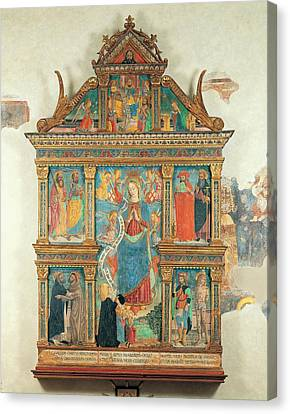 Saint Dominic Canvas Print - Bartolomeo De Benzi, Madonna And Angels by Everett