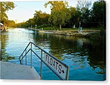 Barton Springs Pool In Austin Texas Canvas Print