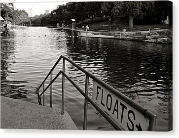 Barton Springs Pool In Austin Canvas Print