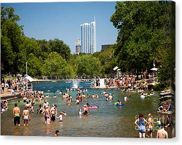 Barton Springs Pool Canvas Print by Randy Smith
