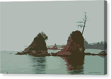 Barview Rocks Canvas Print