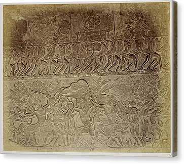 Bas-relief Canvas Print by British Library