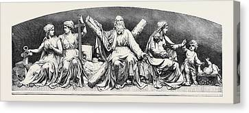 Bas-relief In The Interior Of The Masonic Hall Edinburgh Canvas Print by English School