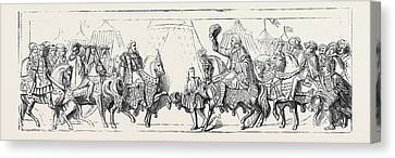 Bas-relief In The Princes Chamber Westminster Palace Canvas Print by French School