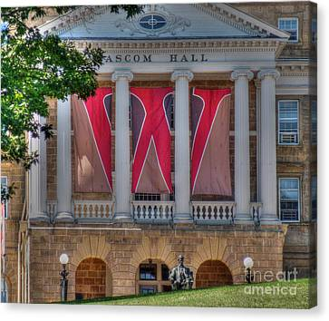 Madison Canvas Print - Bascom Hall-on Wisconsin by David Bearden