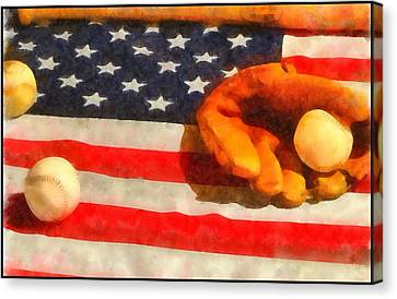 Baseball An American Pastime Canvas Print by Dan Sproul