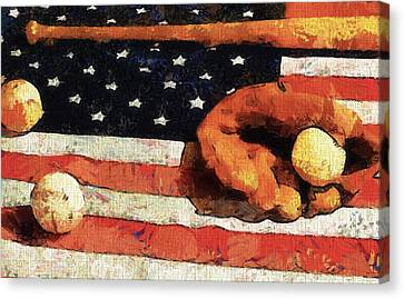 Baseball An American Tradition Canvas Print by Dan Sproul