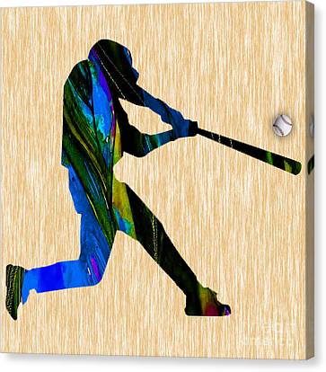 Baseball Art Canvas Print