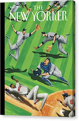 Baseball Ballet Canvas Print by Mark Ulriksen