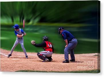 Baseball Batter Up Canvas Print by Thomas Woolworth