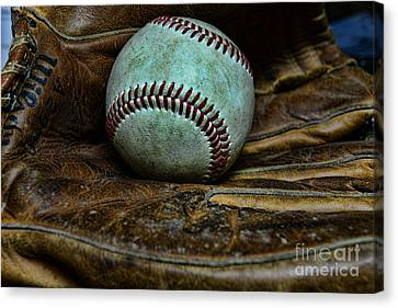Baseball Broken In Canvas Print by Paul Ward