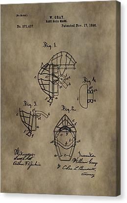 Baseball Catcher's Mask Patent Canvas Print