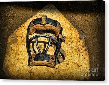 Baseball Catchers Mask Vintage  Canvas Print by Paul Ward