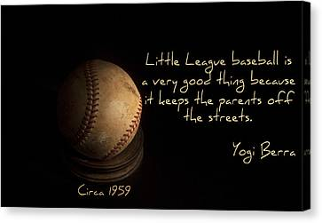 Baseball Canvas Print by Cecil Fuselier