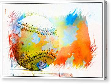 Baseball- Colors- Isolated Canvas Print