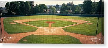 Baseball Diamond Looked Canvas Print