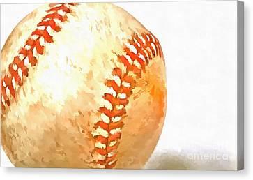 Baseball Canvas Print by Edward Fielding