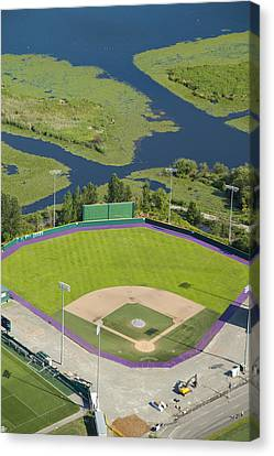 Self-knowledge Canvas Print - Baseball Field, University by Andrew Buchanan/SLP