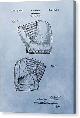 Baseball Glove Patent 2 Canvas Print by Dan Sproul
