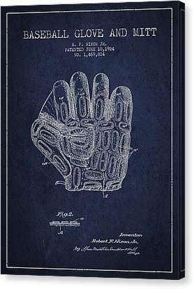 Baseball Glove Canvas Print - Baseball Glove Patent Drawing From 1924 by Aged Pixel