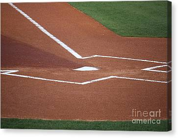 Baseball Homeplate Canvas Print by Keith Bell