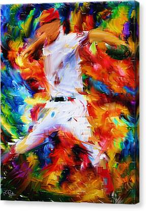 Batter Canvas Print - Baseball  I by Lourry Legarde