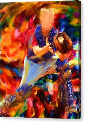 Baseball II Canvas Print by Lourry Legarde
