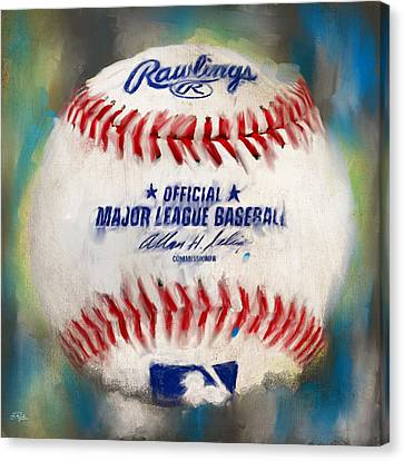 Baseball Iv Canvas Print by Lourry Legarde