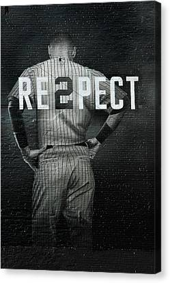 Baseball Uniform Canvas Print - Baseball by Jewels Blake Hamrick