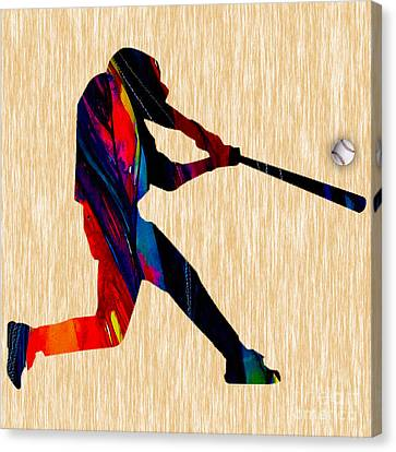 Baseball Canvas Print by Marvin Blaine