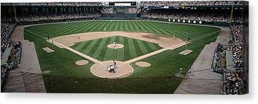 Baseball Match In Progress, U.s Canvas Print by Panoramic Images