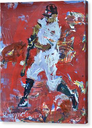 Baseball Painting Canvas Print by Robert Joyner