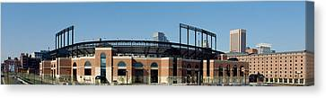 Baseball Park In A City, Oriole Park Canvas Print