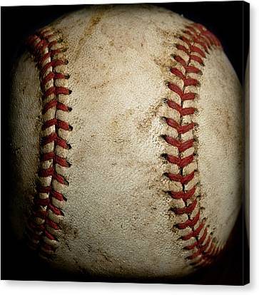 Mlb Canvas Print - Baseball Seams by David Patterson