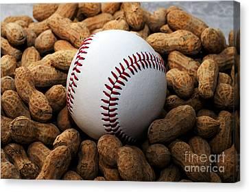 Baseball Season Edgy Canvas Print by Andee Design