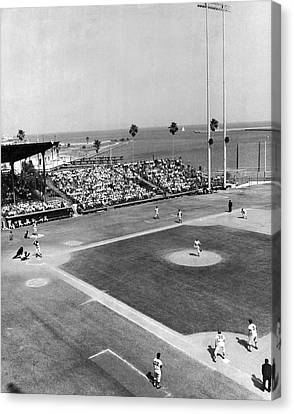 Baseball Spring Training Canvas Print by Underwood Archives