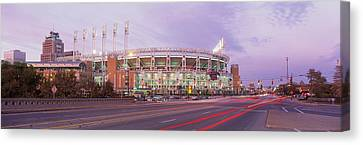 Baseball Stadium At The Roadside Canvas Print by Panoramic Images