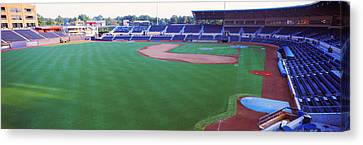 Baseball Stadium In A City, Durham Canvas Print by Panoramic Images